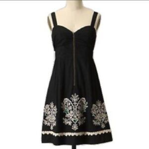 Anthropologie Floreat embroidered Sanora Dress
